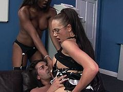 Naughty secretaries Emma and Jasmine have multiple skills