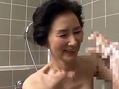Asian grandmother Ishimine Etsuko sucking and fucking