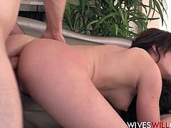 Hot Cheating Wife Fucked In Ass By Husbands Best Friend