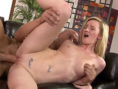 Sexy Skylar Green moans loudly while she jumps on a big cock