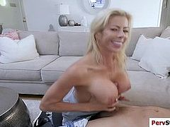 Stepmom Alexis enjoys sucking big dick