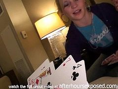 strip poker with two chicks ends with them eating pussy in davenport iowa h