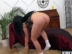 Brunette pornstar punishment with cumshot