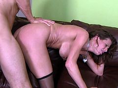 Veronica Avluv likes to ride a fat dick while her tits bounce