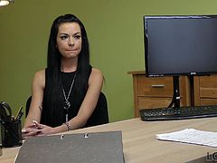 Sometimes, big money can cause big problems. One time, Inga received a very expensive present from her rich parents abroad. She had to pay customs but had no money at all since she could not access her Swiss bank account. That´s how she ended up in a loan office where a loan professional had an interesting proposal. He offered a loan in exchange for sex and Inga eventually said yes to his proposal. Sucking hard dick to get some money, letting an unknown guy to fuck her right in his office - what else is she ready to do for money? …