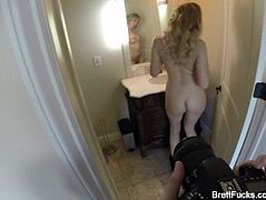 Behind the scenes with busty Brett Rossi