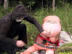 scandinavian mature gets extreme rough fisted and deep anal fucked in the woods