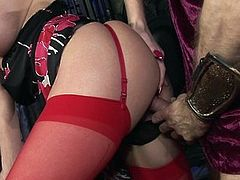 Busty Paige Ashley fucks a handsome gladiator