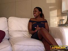African amateur Anastasia arrived on our casting couch as an innocent teen. But she leaves with a degree in ass licking, facefucking and getting all her holes pounded.