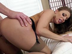 Mouth watering chick Britney Amber is fucked in her elastic anal hole