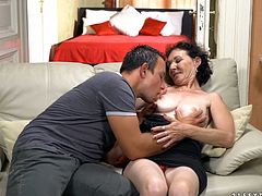 Old whore Pixie gets intimate with one young dude living nextdoor