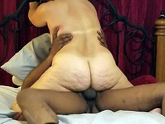 BBC getting second creampie inside her