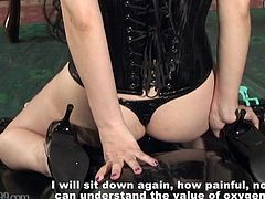 Japanese Femdom Facesitting and Foot Fetish to Rubber Slave