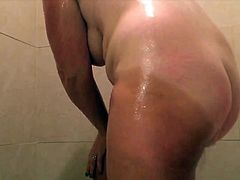 Hairy pussy and big tits showering 9 please comment