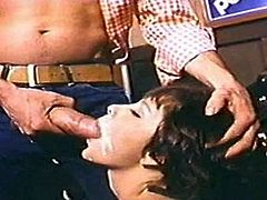 Hot cumshot from vintage big cock