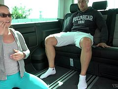 Kinky Wendy agrees to fuck with a horny friend in the car