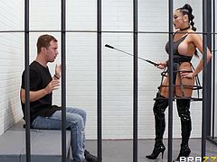 It's time for Jessy to take his punishment and Audrey Bitoni will try to explain to him how good guys should behave themselves. This busty mistress will fuck him to death, so join and enjoy! We've got the best chicks jocking the biggest dicks!