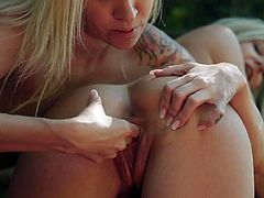 A GIRL KNOWS - Blondie banged by Angel Piaff in the forest