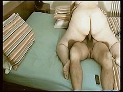 Wife rides on the top untill husbands cum inside her