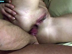 Beauty Anne fucked by two hard cocks