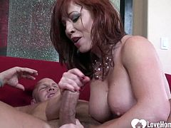 She will let him eat her pussy before he can shove his dick inside.