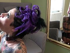 Super whore with tatts Megan Inky gets her anus stretched and destroyed