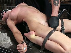 Ex husband punishes whore wife Melissa Moore in the dark basement