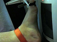 Tortured foot roasted by heating after bastinado and falaka