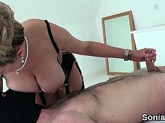 Cheating british milf lady sonia pops out her gigantic natur