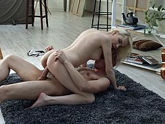 Skinny Isabel Stern gets fucked a lot before being creampied
