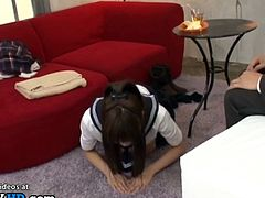 Japanese cute 18yo schoolgirl cant deepthroat