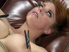 Want to join rough bdsm punishment? Well, busty redhead babe Penny Pax, is waiting for you. Pull you dick out of your pants and stick it deep into her tight asshole. Watch breathtaking ass spanking and punishment!