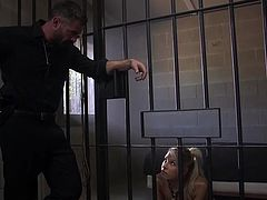 The cruel and complex nature of her lover, Charles Dera, was well known to her, but Carmen did not expect such cruel punishment for her bad behavior. Charles closed her in a metal cage with her hands tied and was not going to let her out of there, until she asked for forgiveness and sucked his dick...
