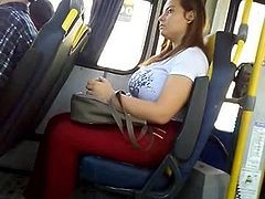 SEXY BUSTY ON THE BUS