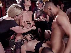 Chloe Cherry is brutally fucked right in the middle of the room and Arabelle Raphael sits on her face, enjoying how Chloe sensually licks her wet pussy. The air is full with passion and lust. The atmosphere is so tense, that just one spark and... Join and have fun!