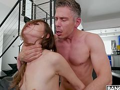 Older guys know how to deal with women and Riley Reid understands this. Her new boyfriend has gray hair but hard dick and he is ready to fuck from morning till night. Great combination! Join and enjoy impetuous sex action!