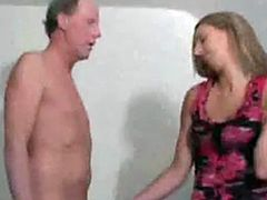 cute girl jerks him off into her shoe