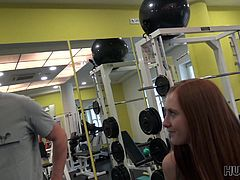 It was not planned in advance, I just met this couple in the gym and the plan immediately appeared in my head. I offered them money if they will agree to fuck right here. Join to know, whether this redhead babe will suck my cock...