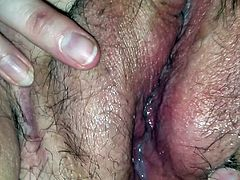 Cum in my girl- Pt 2 of Girlfriends creamy pussy on my cock