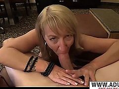 Breasty step mama daisey gives titjob hard touching step son