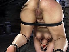 It's time for Rose Darling to try hard metal bondage and our cruel master will make her first experience unforgettable. He whipps her bubble butt and then puts her in a special metal bondage device... Join to know all the hot details!