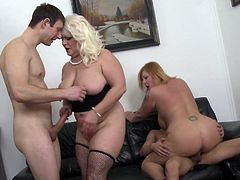 Busty matures bang young dudes