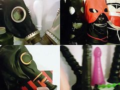 BDSM masks and anal toys