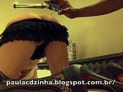 Amazing Butt Paula CDzinha anally fucked by BBC