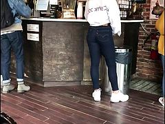 Cute teen full ass in tight jeans 2 of 2