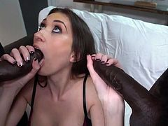AD - Hot girl fucked hard by 2 BBC inDP