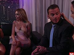 SCAM ANGELS - Horny American babes Kat Dior and Morgan Lee fuck in wild FFM threesome