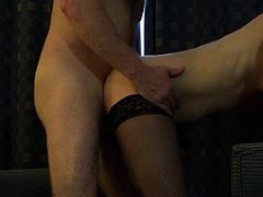 Wife licked whilst doing splits