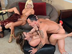 Three Mature Ladies For Lucky Man