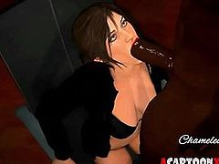 Lara Croft takes strong BBC in tight pussy
